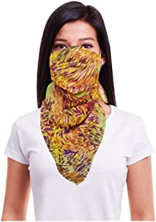 nestroots Cotton Face Mask Pack of 1 Washable Reusable Printed Designer Scarf Face Masks  Soft Earloop/Mouth Nose cover Face Masks for Women Girls  cover Face Masks (Multicolour)