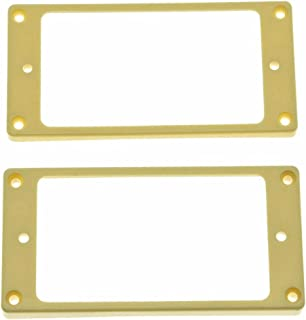 Dopro Set of 2 Humbucker Pickup Ring Pickup Mounting Frame Curved Bottom 35 for Neck and 79 for Bridge Pickup Cream