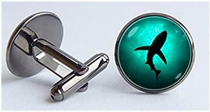 yi sheng Shark cufflinks, jewelry, sea shark cufflinks, sea cufflinks, sea marine cufflinks