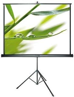 DELUXX Advanced stativ kanvas mobil lätt hemmabio- och affärshjälpduk med inbyggd nyckelbygel för trapetskorrigering och b...