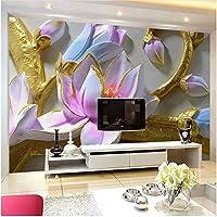 Xbwy 装飾壁画壁壁画モダンフラワーアート壁紙リビングルームの家の装飾-280X200Cm