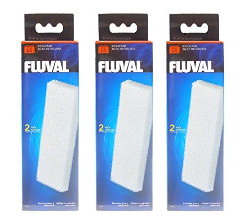 Filtro Fluval U3 almohadillas de espuma, 3 x 2 pack