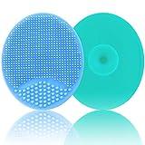 Baby-Badebürste, Baby-Bürste, Silikon-Massagebürste, Peeling-Bürste | Die SkinSoother Baby Essential für trockene Haut, Wiegenkappe und Ekzeme, 2 Stück (Blau & Grün)