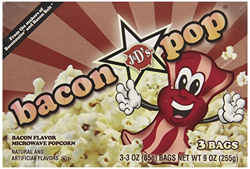 Buy Discount J&D's Bacon Pop Popcorn, 3 Microwavable Bags, (Pack of 6)
