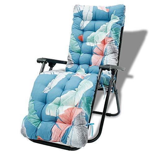 Auflagen für Gartenliegen 170x53x8cm, Sonnenliege Kissen Elegant , Bankkissen Anti-Rutsch-Design, Dick Sitzkissen Sitzpolster Sitzauflage für Terrasse, Reisen, Relax Liegestuhl (B)