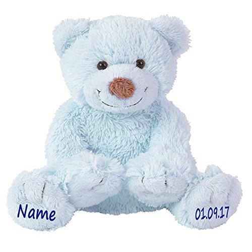 Elefantasie Stofftier Teddy Bär Geschenk mit Namen und Geburtsdatum personalisiert 25cm