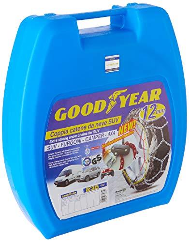 Goodyear 77933 Catene neve 12 mm per SUV, furgoni, camper e 4x4, misura 235