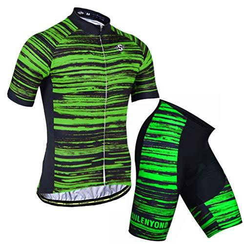 X-Labor Conjunto de maillot de ciclismo para hombre de rayas, talla grande,...