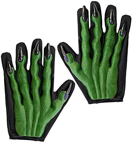 Luxuspiraten - Herren und Damen Handschuhe im 3D Look und Teufel und Hexen Style, perfekt für Karneval und Halloween, Grün