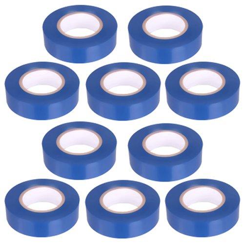 10pezzi–Nastro isolante in PVC nastro 10metri di lunghezza 15mm di larghezza–blu -