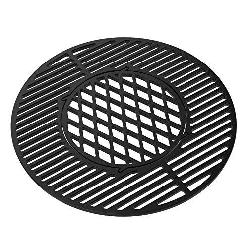 Onlyfire Kompletter Gusseisen-Grillrost System Sear Grate für Weber 57 Kugelgrill