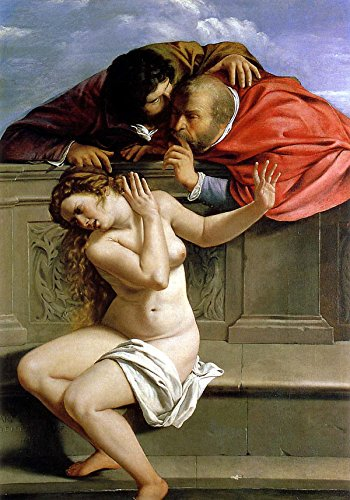 Artemisia Gentileschi - Susanna and The Elders, Size 16x24 inch, Poster Art Print Wall décor