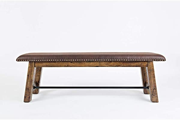 Jofran 1511 56KD Cannon Valley Dining Bench 56 W X 15 D X 19 H Finish Set Of 1