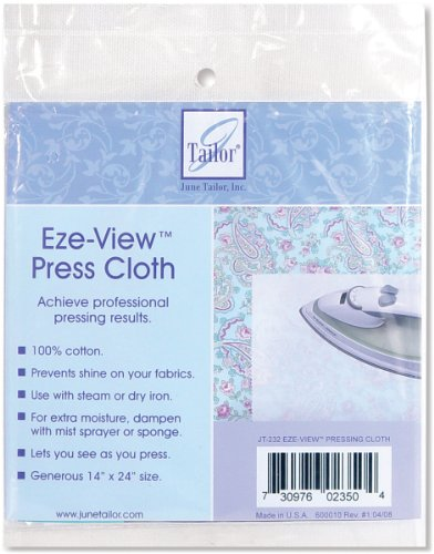 June Tailor Eze-View 24-by-14-Inch 100% Cotton Press Cloth