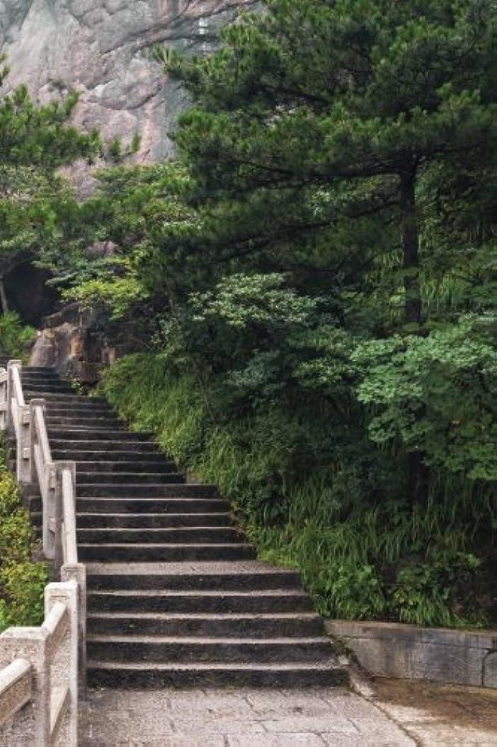 穴浸漬実施するMountain Temple Stairs Grid Notebook: 150 page Grid Notebook Journal Diary (Eastward 150 Grid)
