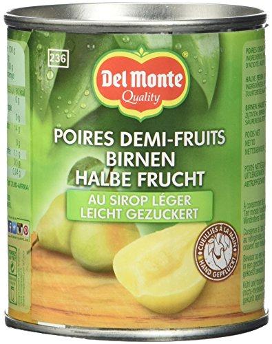 Del Monte Birnen 1/2 Frucht gezuckert, 12er Pack (12 x 236 ml Dose)