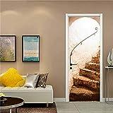 N / A 3D White Space Door Wallpaper Moderne Wohnkultur