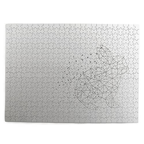 huagu Puzzle 500 Piezas-Rompecabezas Adultos-geométrico Abstracto Origami Conejo Conejito Poligonal-Juegos Educativos-Entretenimiento,Niños y Adolescentes,Divertido Regalo