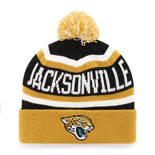 OTS NFL Jacksonville Jaguars Men's Jasper Cuff Knit Cap with Pom, Team Color, One Size