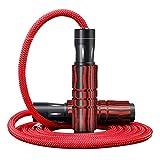 Rodamiento trenzado Cuerda para saltar Deportes ajustables Perder peso Ejercicio GimnasioVelocidad Cuerda para saltar Antideslizante Mango de aleación Rojo