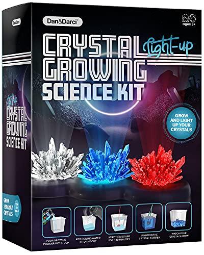 Kit de Cultivo de Cristales Iluminado - ¡Cultive Sus Propios Cristales y Haga Que brillen! Gran Regalo de experimentos científicos para Niños y Niñas | Juguete Stem | Cultivo de Cristal