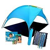 """Carpa de Playa """"Saturn"""": ¡da Sombra Mejor Que el Parasol! Carpa de 4 Personas protección UV, fácil de Usar, Impermeable a la Lluvia y Refugio para niños y Adultos, para Eventos Deportivos."""