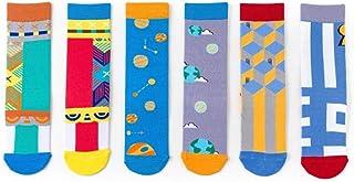 WZDSNDQDY Calcetines de Tubo para Hombres, 3 Pares de Calcetines Deportivos de Dibujos Animados, Olor Anti-pie Transpirable Resistente al Desgaste, Material de algodón, Mano súper Suave y Duradera,