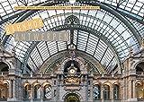Emotionale Momente: Bahnhof Antwerpen Ansichten. (Wandkalender 2022 DIN A3 quer)