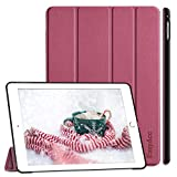 EasyAcc Hülle Kompatibel mit iPad Air 2, Ultra Slim Cover Schutzhülle PU Lederhülle mit Standfunktion/Auto Sleep Wake Up Funktion Kompatibel mit iPad Air 2 2014 A1566/A1567 -Zwetschgen Purpur