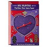Hallmark Star Wars - Tarjeta de San Valentín para niños (encuentra tu nombre...