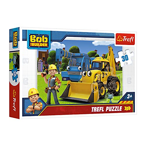 Trefl 18214 , Puzzle, Neue Herausforderung, Bob der Baumeister, 30 Teile, für Kinder ab 3 Jahren