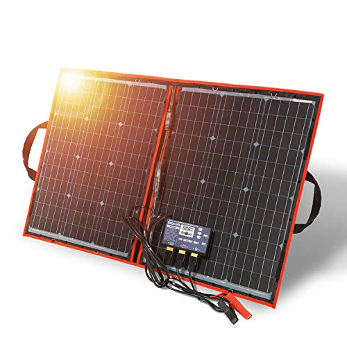 Dokio 100 Watt Solamodule-Solarpanel Monokristalline Faltbar+Solar Controller (Lcd-Anzeige + Usb-Ausgang)
