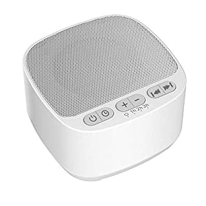 White Noise Machine, Sleep Sound Machine with 40 High Fidelity Sounds – White Noise/Fan/Nature/Ambient Sounds, Baby Sound Machine, Sleep Sound Therapy for Home (3 Auto-Off Timer)