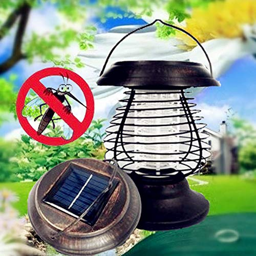 Outdoor Zonne-energie Draagbare LED Zonne-Muggen Killer Lamp Insect UV Bug Killing Pest Lamp Tuin Landschap Wandlamp