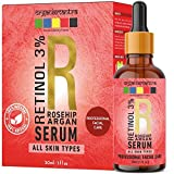 Organix Mantra Retinol Serum 3% for face with Vitamin E, Hyaluronic Acid, Moroccan