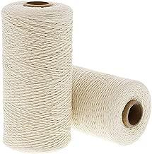 Ivory Cotton Loom Warm Thread Rolls, 800 Yards Each (2 Pack)