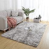 Muutos Shaggy Teppich 200x250cm, Lammfell Teppich, Preiswert, Anti Rutsch, für Wohnzimmer, Schlafzimmmer, Kinderzimmer, Esszimme - Hellgrau
