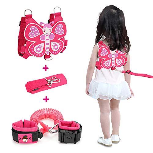 Lehoo Castle Kinder Sicherheitsleine, Kinder Leine Handgelenk, Anti-verloren Gürtel Handgelenk Link, Schmetterling