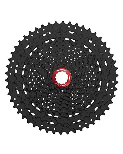 SUNRACE Cassetta pignoni Mtb Wide Ratio MX8 11 velocità 11-50T nero (Cassette Mtb) / Wide Ratio Mtb cassette sprocket MX8 11 speed 11-50T black (Sprockets Mtb)