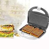 Cocina Aparatos de cocina Raya curva Tortilla Pan Waffle Sandwichera, Revestimiento antiadherente Mango táctil frío Pies antideslizantes