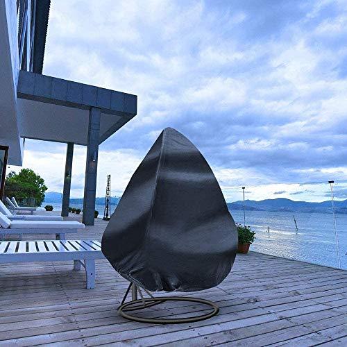 FlyLemon Garden Rattan Wicker Double Basket Swing Seat Chair Waterproof Patio Egg Chair Cover(L (210D))