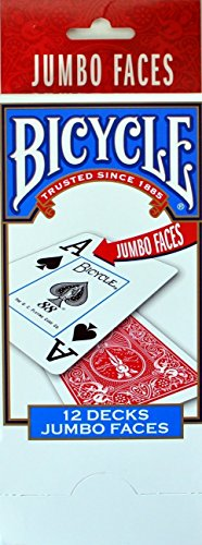 Bicycle Jumbo Index Playing Cards - 12 Decks