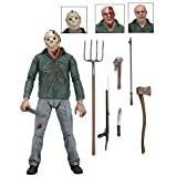 NECA - Friday The 13th, Parte 3 Jason Battle Damage Viernes 13, Figura de 18 cm (NEC0NC39783)