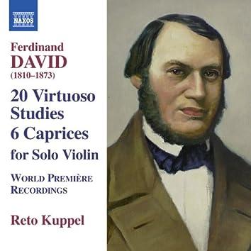 David: 6 Caprices & 20 Virtuoso Studies (Based on Moscheles, 24 Studies, Op. 70)