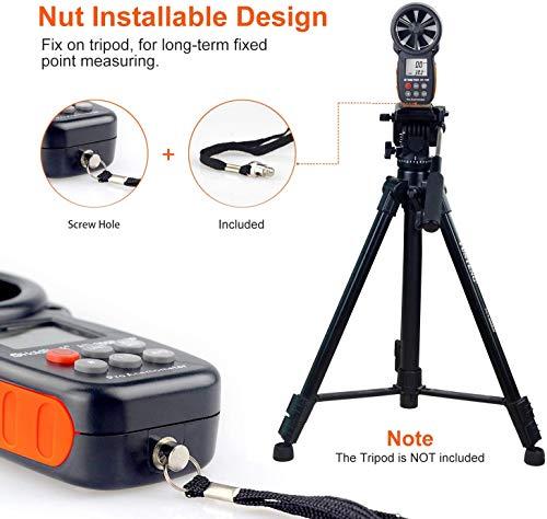 BTMETER Anemómetro Digital Medidor de Velocidad de Viento Manual, Mida con...