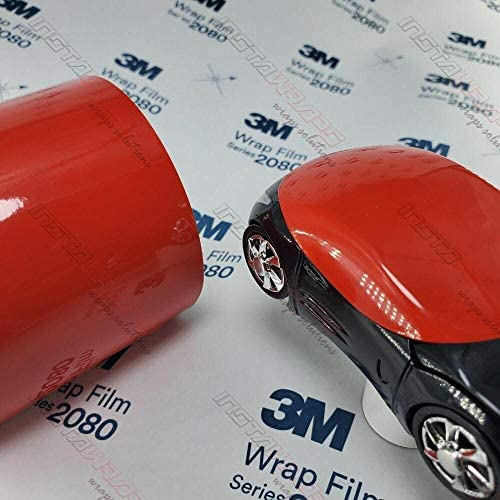 Candy red vinyl wrap
