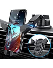 VANMASS Gravity Car Phone Mount, 【Newest】 Auto Clamping Car Phone Holder, Univarsal Handsfree Phone Mount for Car Dash Windshield Vent Compatible iPhone 13 12 11 Pro Max X 8 7 Galaxy S21 S20 Note 20