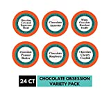Smart Sips, Chocolate Obsession Gourmet Coffee Variety Sampler Pack, 24 Count Pods for Keurig K-cup Brewers -Chocolate Peanut Butter, Chocolate Raspberry, Chocolate Espresso Bean & More