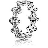 PANDORA - Flores anillo de plata asiática 925/1000 PANDORA 191000CZ - 50