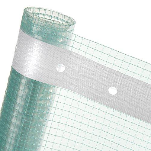 4m² Gitterfolie in 4m Breite Gewächshausfolie Treibhausfolie florafol gitterverstärkt mit Nagelrand (Meterware)
